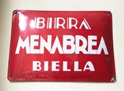 Menabrea red sign